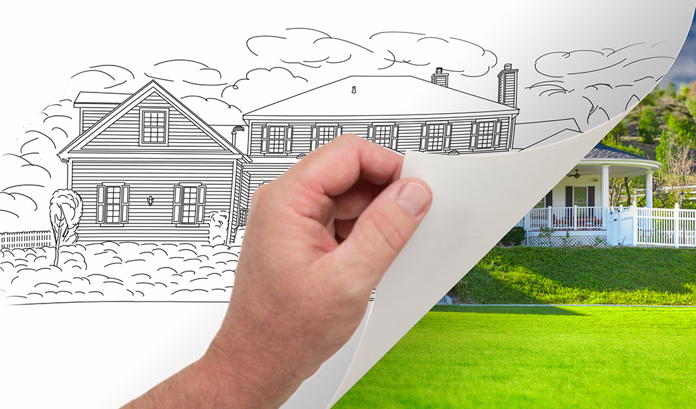 blueprint of planned home